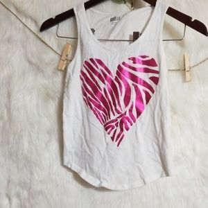 Girl's Crazy 8 pink heart tank size 7/8